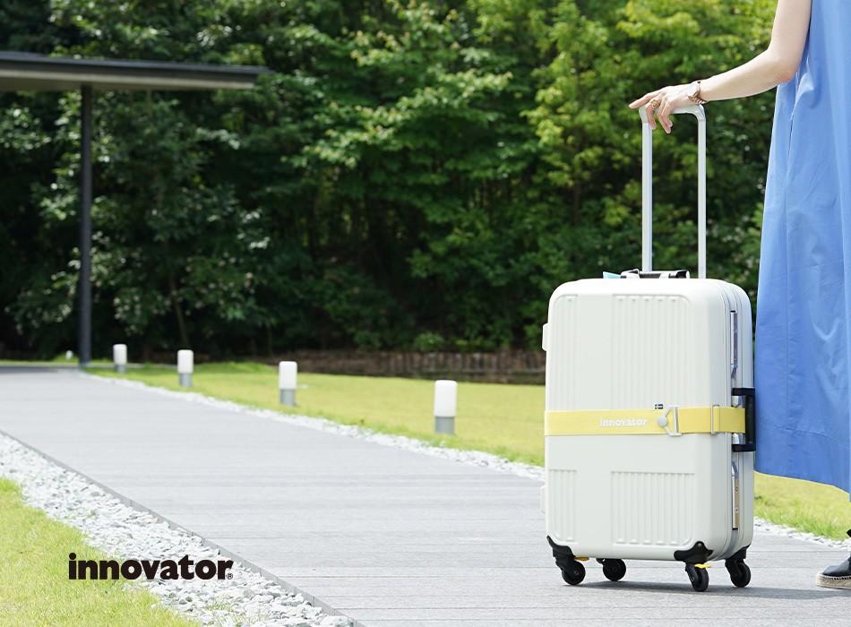 イノベーターのフレームスーツケースLサイズ。イノベーター10周年モデル
