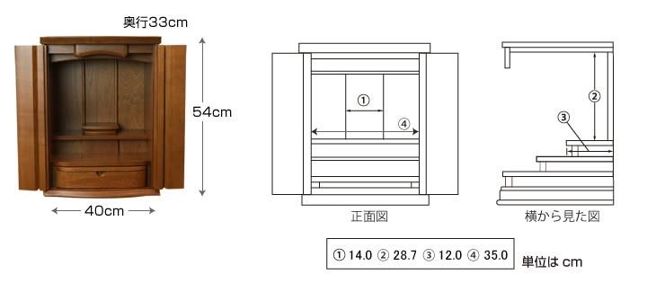 仏壇サイズ画像