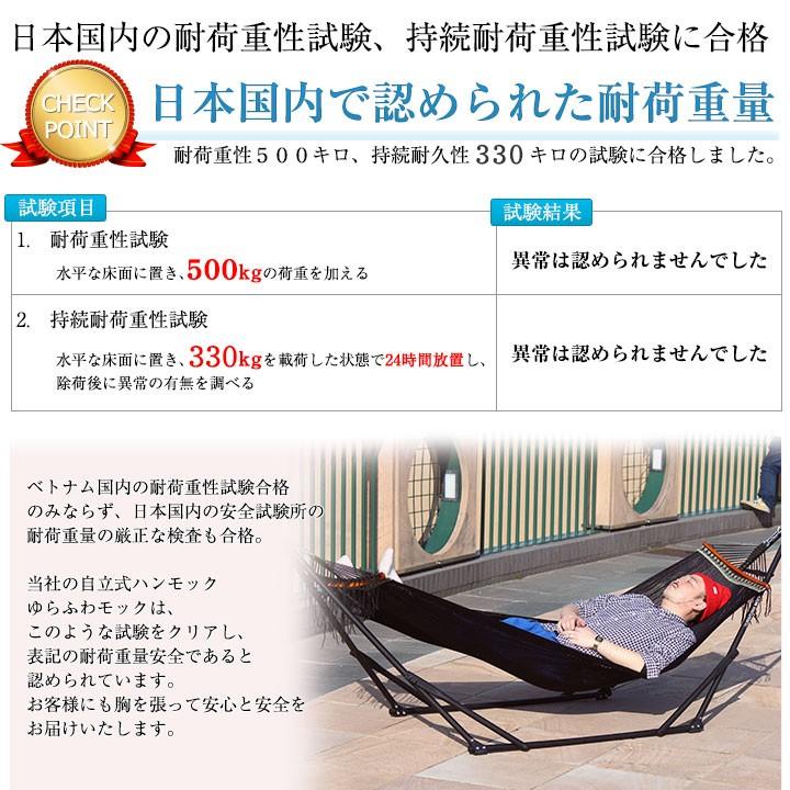 日本国内で認められたゆらふわモックの耐荷重量