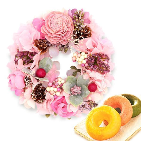 母の日プレゼント 花 ギフト 2019 プリザーブドフラワー お菓子 花とスイーツ 写真立て 薔薇 hana-collabo 11