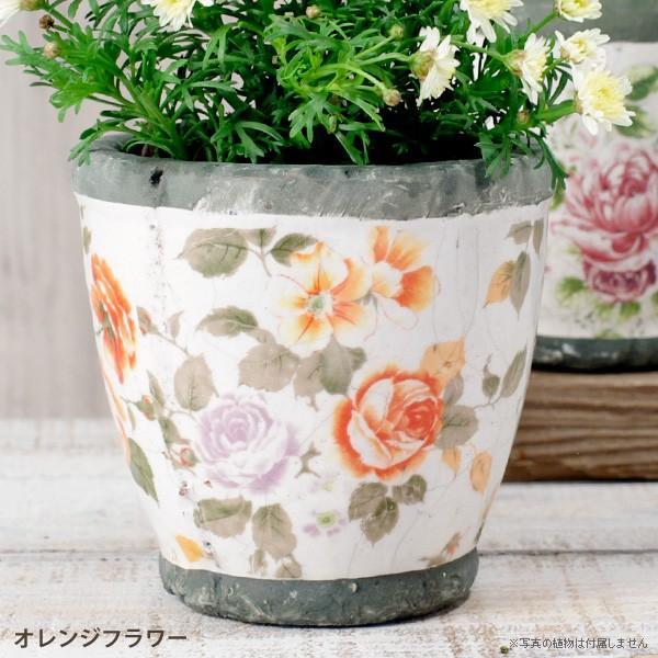 プランター おしゃれ 植木鉢 陶器 ローズフラワープランター 約4号|hana-kazaru|07