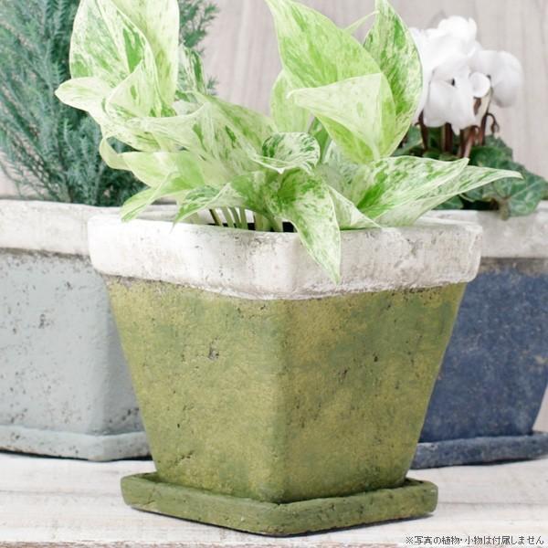 プランター おしゃれ 植木鉢 モンターニュ スクエアプランター 約4.5号|hana-kazaru|07