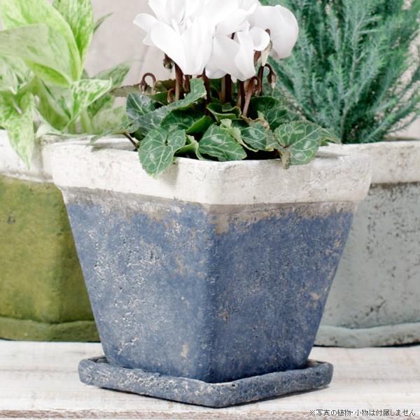 プランター おしゃれ 植木鉢 モンターニュ スクエアプランター 約4.5号|hana-kazaru|08