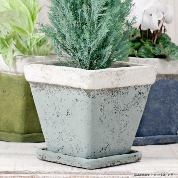 プランター おしゃれ 植木鉢 モンターニュ スクエアプランター 約4.5号|hana-kazaru|09