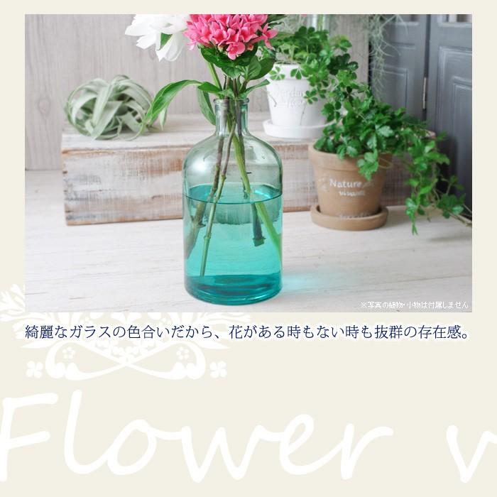 綺麗なガラスの色合いだから、花がある時もない時も抜群の存在感。