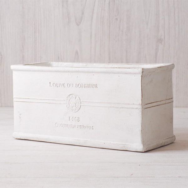 プランター おしゃれ 植木鉢 グラスファイバー製 ボヌールオリーブ・プランター 約W29×D12×H14cm|hana-kazaru|13