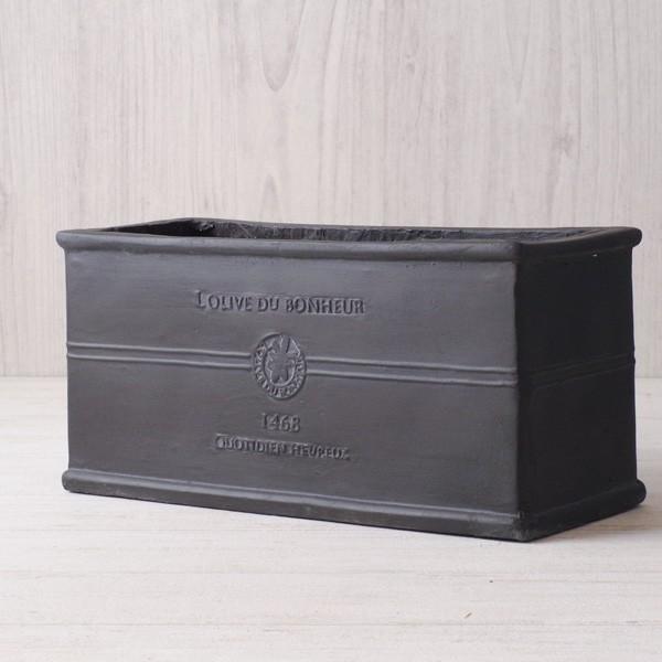 プランター おしゃれ 植木鉢 グラスファイバー製 ボヌールオリーブ・プランター 約W29×D12×H14cm|hana-kazaru|14