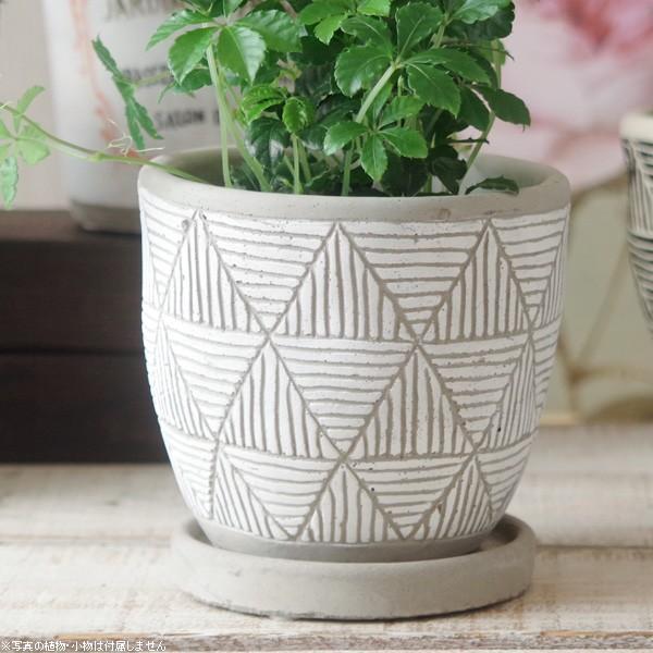 プランター おしゃれ 植木鉢 トライアングルレリーフポット 約4号 hana-kazaru 17