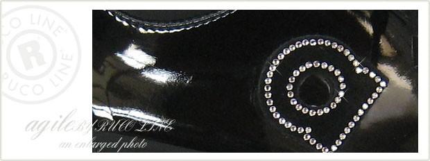 ルコライン靴(アージレ) 2020春夏 新作 限定品 エナメル スニーカー RUCO LINE靴 NO.128BK(ブラック) ファスナー付き