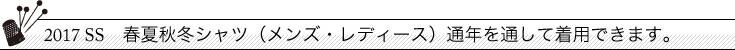 (通年)シャツ