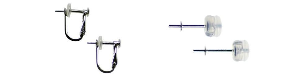 オーロラ花珠 アコヤ真珠イヤリング(またはピアス) S438220 金具