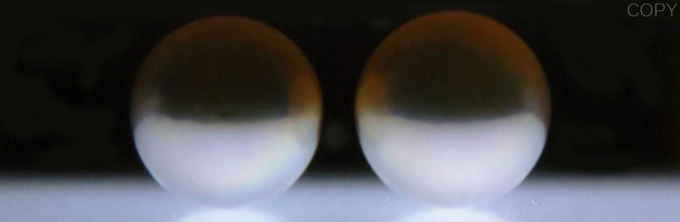 オーロラ花珠 アコヤ真珠イヤリング(またはピアス) S438220 オーロラ画像