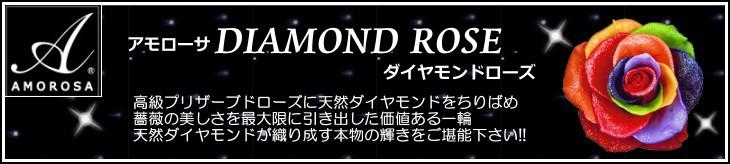 アモローサのダイヤモンドローズボックス/レインボー /プリザーブドフラワー