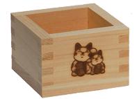 招き猫枡。開店、開業祝いのギフト・プレゼントのプリザーブドフラワー