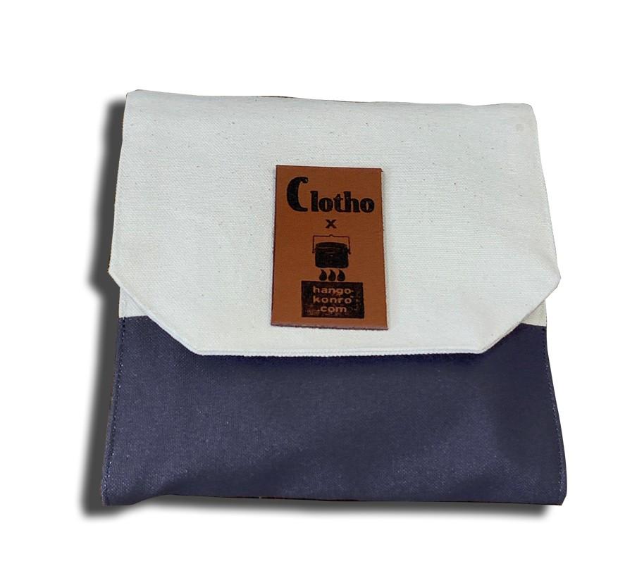 Clotho(クロト) x ハンゴーコンロ研究所 コラボ 帆布ケース