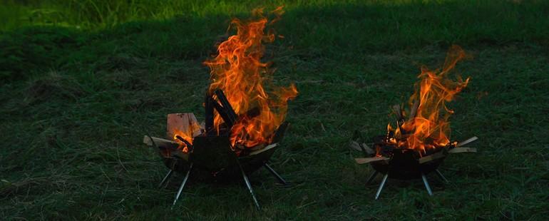 パズルのような焚き火台。ファイヤーピットKIKYO-桔梗-