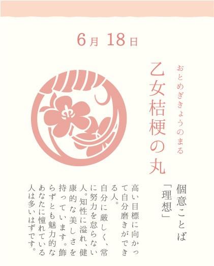 6月18日 乙女桔梗の丸(おとめぎきょうのまる)