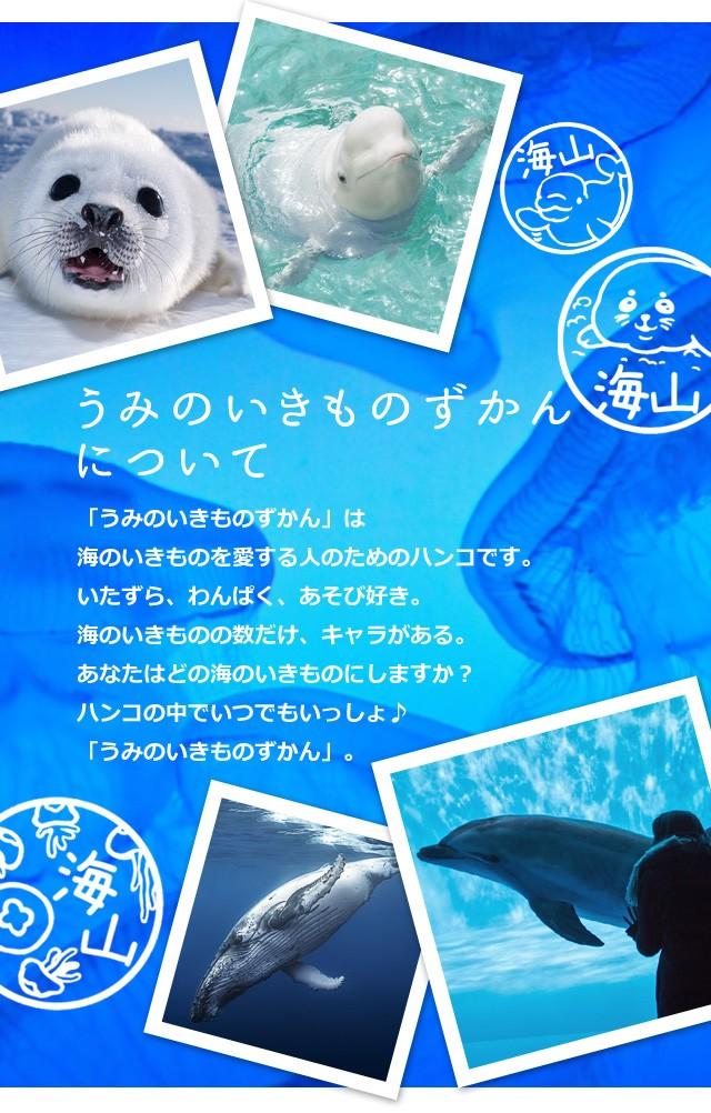 うみのいきものずかんについて「海のいきものずかん」は海のいきものを愛する人のためのハンコです。