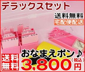 デラックスセット 送料無料 宅配便配送 おなまえぽん 3800円