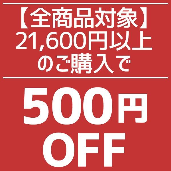 【全商品対象】21,600円(税込)以上購入で500円OFF!