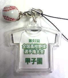 2009 夏の甲子園 高校野球選手権大会 校名入りストラップ 背面