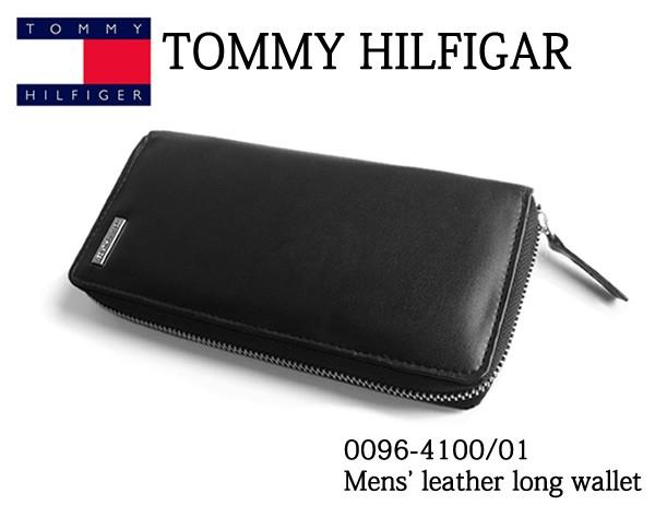 superior quality def3e 6c2b1 トミー ヒルフィガー TOMMY HILFIGER 長財布 メンズ 財布 0096-4100/01 本革 財布