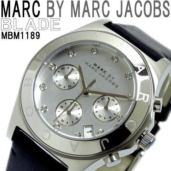 quality design bd521 aec3e MARC BY MARC JACOBS 腕時計 マークバイマークジェイコブス クロノグラフ MBM1189 メンズ レディース BLADE Chrono