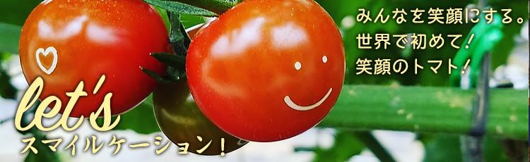 let's スマイルケーション!みんなを笑顔にする。 世界で初めて!笑顔のトマト!