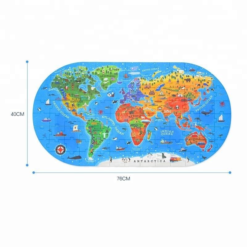 ワールドフロアパズル 幼児向け世界地図ジグソーパズル 100ピース