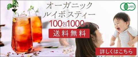 オーガニックルイボスティー100包1000円