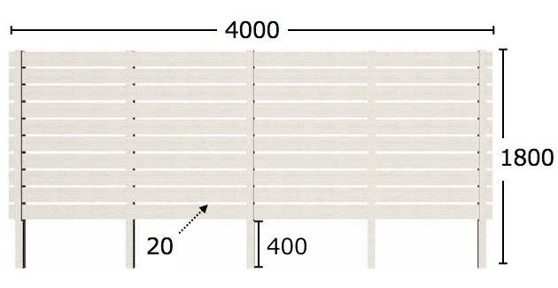 フェンスのサイズ