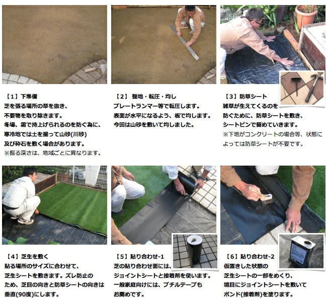 人工芝の施工説明1