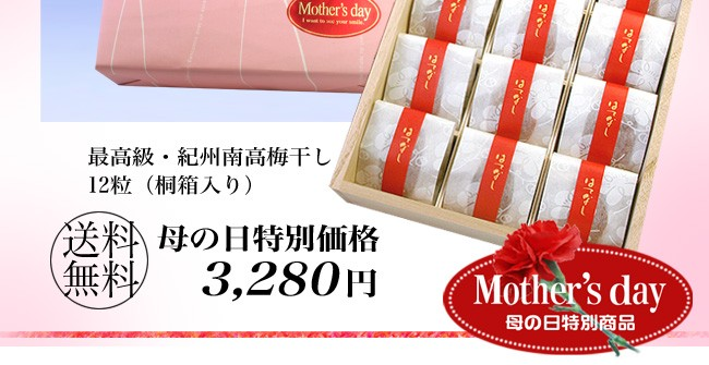 「母の日特別価格」3,280円送料無料