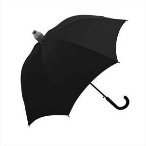傘 60cm ジャンプ 雨傘 シンプル 長傘 カバー付き 周囲を濡らさない スライドキャップ キッズ かわいい 女の子 子供用 男の子 黒|hauhau