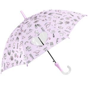 傘 子供用 長傘 女の子 雨傘 55cm ジャンプ 小学生 耐風 グラスファイバー 可愛い キッズ 通学 スイーツ ファンシー 丈夫|hauhau