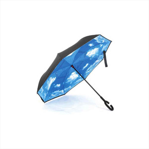 逆さ傘 長傘 60cm レディース リバース 傘 メンズ グラスファイバー 丈夫 通勤 強風 通学 雨傘 高校生 濡れにくい 逆さに開く 傘|hauhau