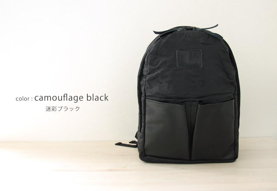 高密度ナイロン×上質本革 リュック バックパック ブラック 黒 レディース メンズ ユニセックス by HAYNI