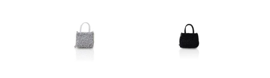 メッシュミニショルダーバッグ レディース ワイヤーコード×リボン【Leplanay ルプラネ】ヘイニ バッグ