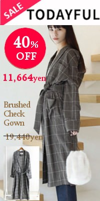 TODAYFUL(トゥデイフル)Brushed Check Gown
