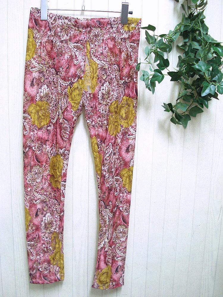 エキゾチック花柄レギンス,ファッション通販セレクトショップハローインポート