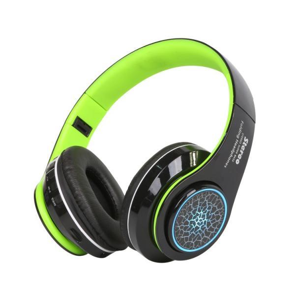 Bluetoothワイヤレス ヘッドホン/ヘッドフォン Squid 折りたたみ式 通話機能 有線接続可 LEDTYPE|hfs05|12