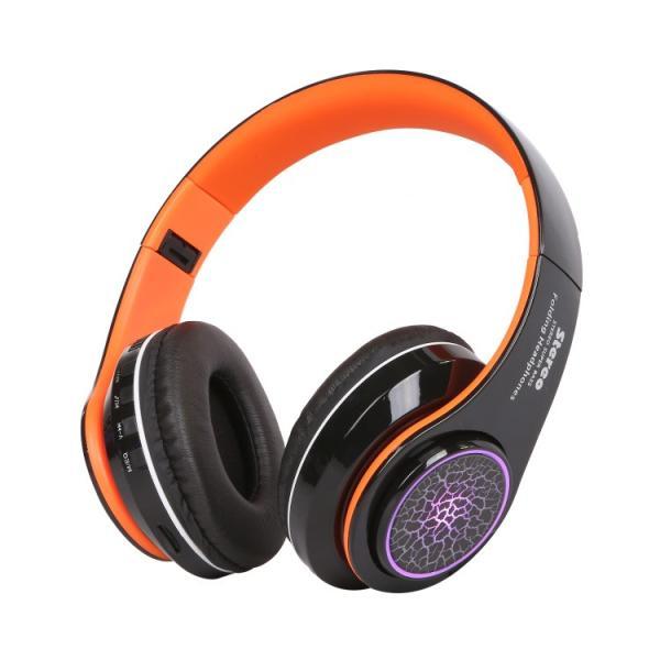 Bluetoothワイヤレス ヘッドホン/ヘッドフォン Squid 折りたたみ式 通話機能 有線接続可 LEDTYPE|hfs05|11