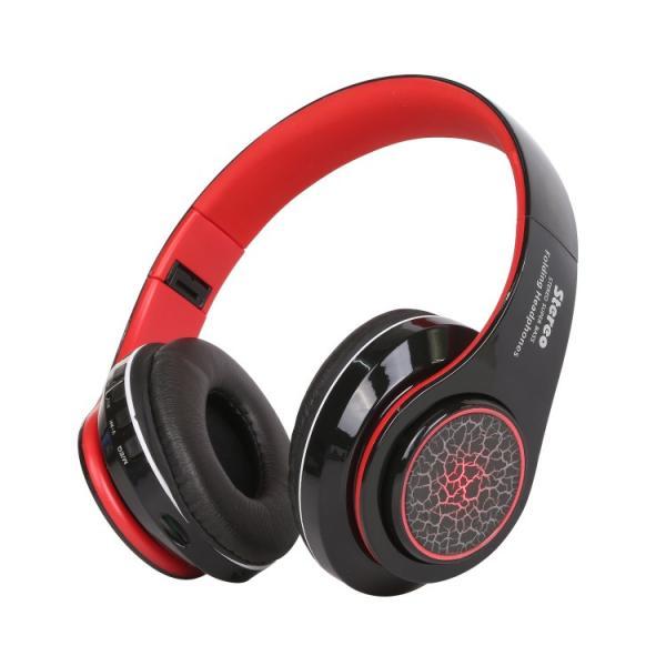 Bluetoothワイヤレス ヘッドホン/ヘッドフォン Squid 折りたたみ式 通話機能 有線接続可 LEDTYPE|hfs05|10