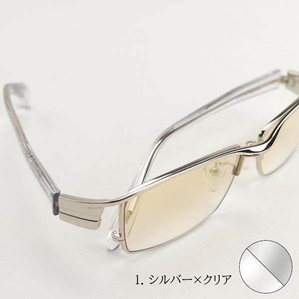 サングラス ミラーレンズ 度付きメガネ トラックドライバー 薄い色 ちょい悪 メンズ 大きいサイズ 白フレーム 幻剣 バイク ドライブ UVカット|hidetora|16