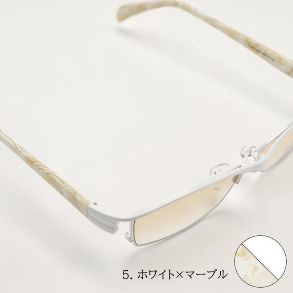サングラス ミラーレンズ 度付きメガネ トラックドライバー 薄い色 ちょい悪 メンズ 大きいサイズ 白フレーム 幻剣 バイク ドライブ UVカット|hidetora|20