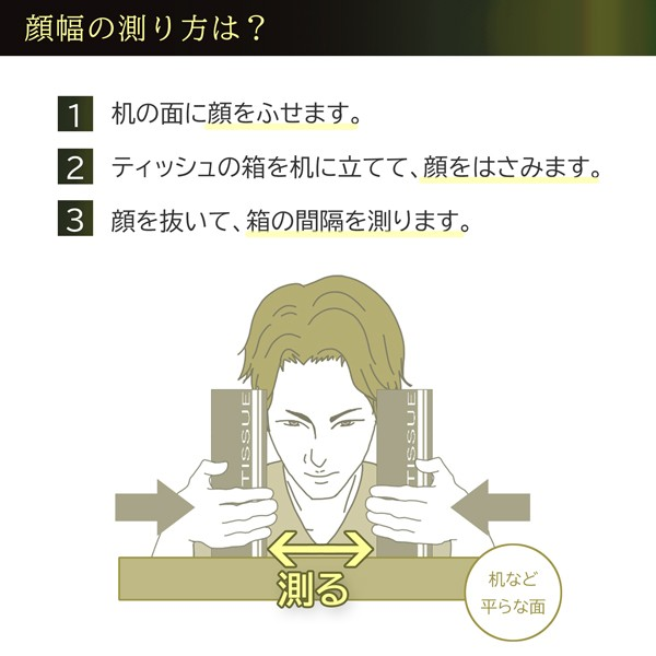 顔幅の測り方