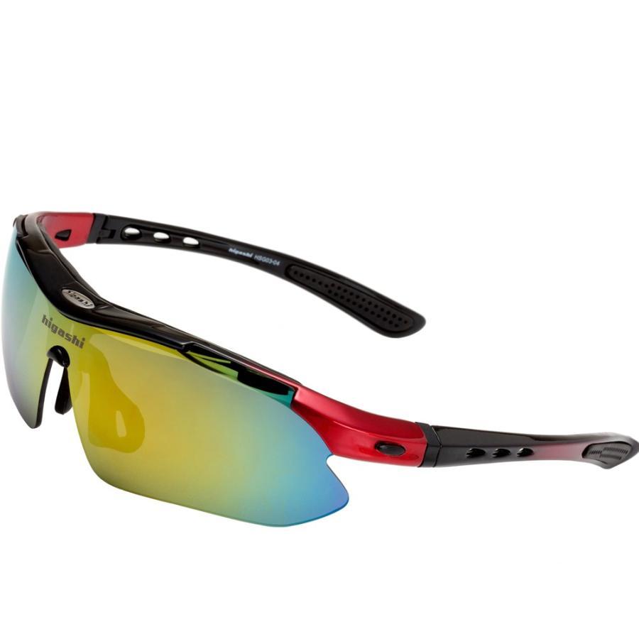 サングラス スポーツサングラス 偏光 サングラス スポーツ UVカット メンズ レディース ゴルフ サイクリング 野球 HSG03-4|higashi-corp|15