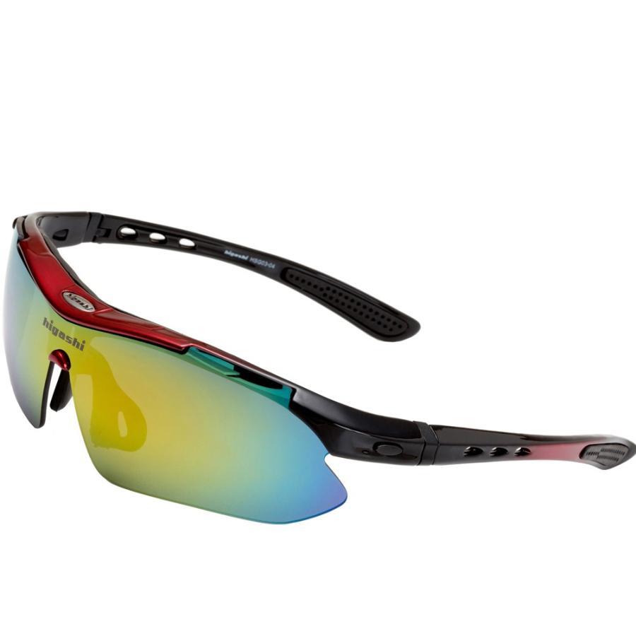 サングラス スポーツサングラス 偏光 サングラス スポーツ UVカット メンズ レディース ゴルフ サイクリング 野球 HSG03-4|higashi-corp|20