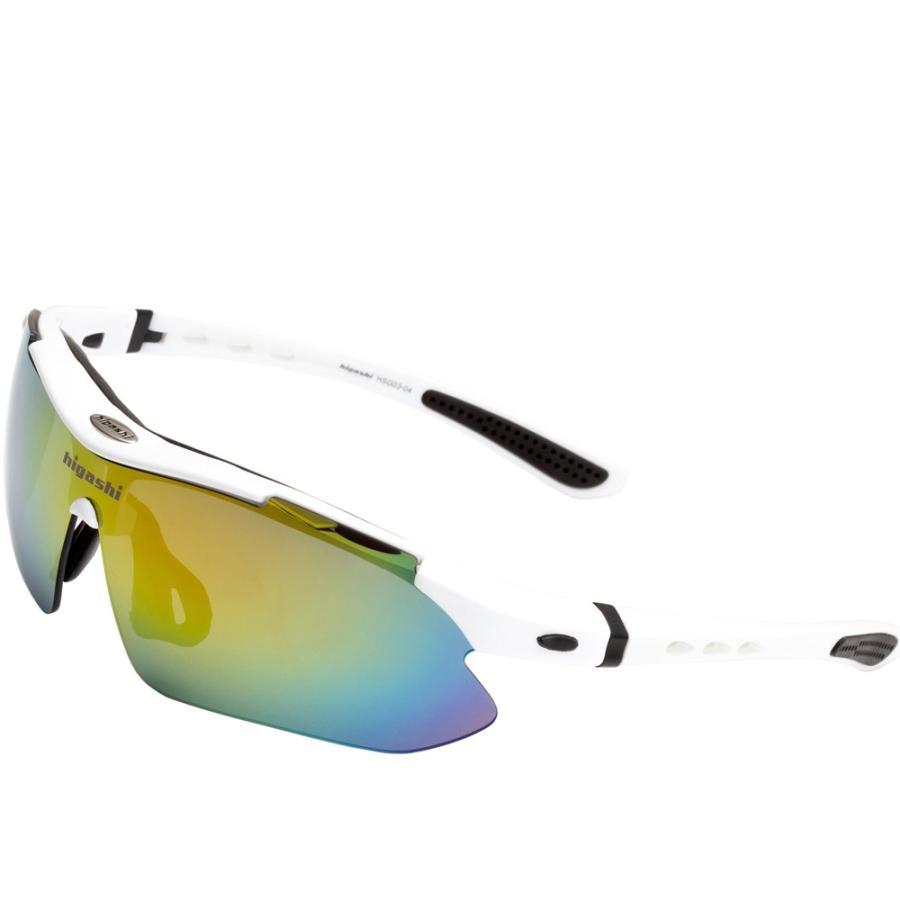 サングラス スポーツサングラス 偏光 サングラス スポーツ UVカット メンズ レディース ゴルフ サイクリング 野球 HSG03-4|higashi-corp|21