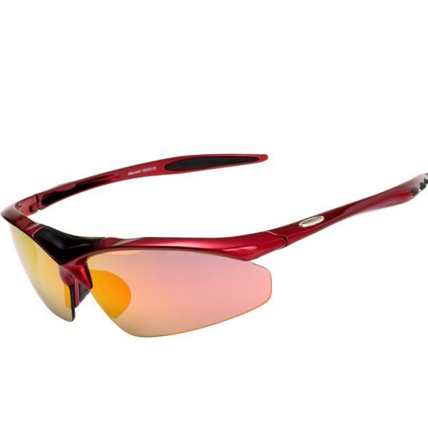 スポーツサングラス 偏光 サングラス スポーツ UVカット メンズ レディース 野球 サイクリング ゴルフ HSG02-5|higashi-corp|20